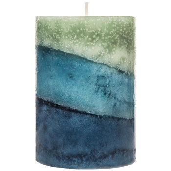Tropical Waters Layered Pillar Candle